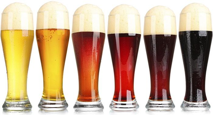différentes couleures de bières